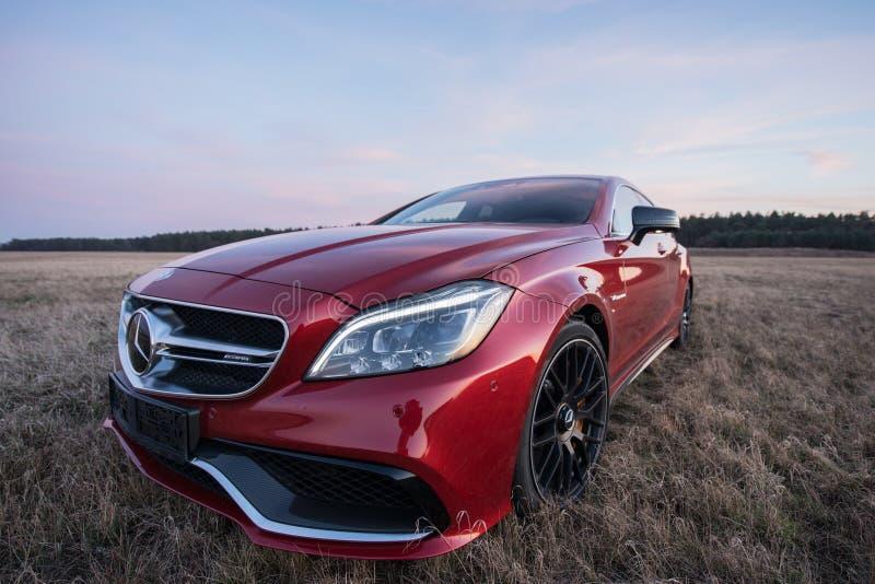 Mercedes Benz CLS AMG63 V8 Biturbo 2017 stock images