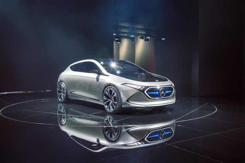 Mercedes-Benz Concept EQA - elektrische auto bij IAA 2017 royalty-vrije stock afbeelding