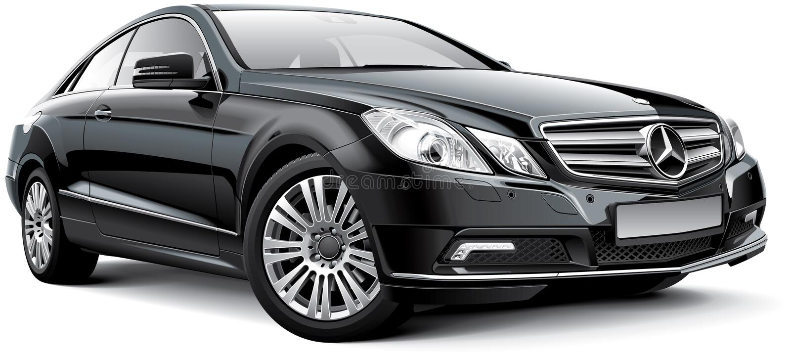 Mercedes-Benz E-Class W212 Coupe stock illustration