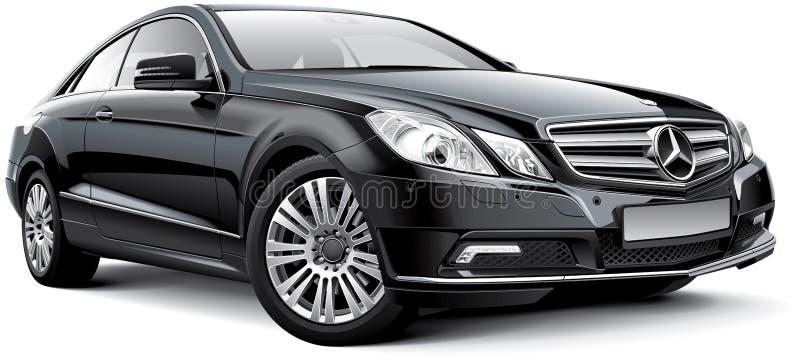 Mercedes-Benz E-grupp W212 kupé stock illustrationer