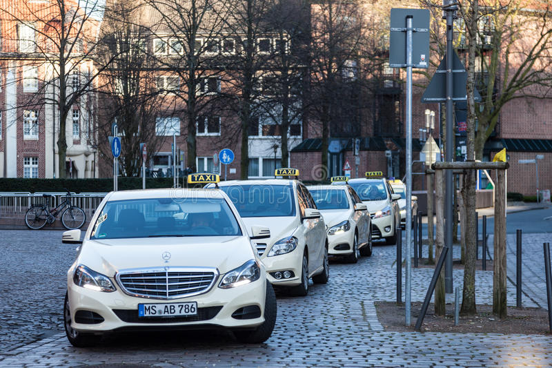 Mercedes Benz-e-Klasse Taxicabines royalty-vrije stock foto