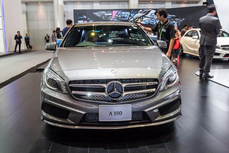 Mercedes Benz-A180 en la exhibición fotografía de archivo libre de regalías