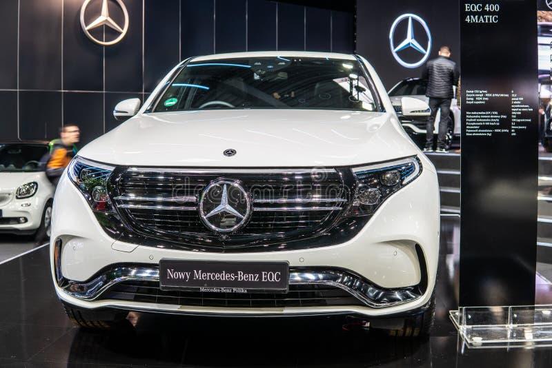 Mercedes-Benz EQC 400 4Matic 300kW SUV, het modeljaar van 2019, EQ-merk royalty-vrije stock foto