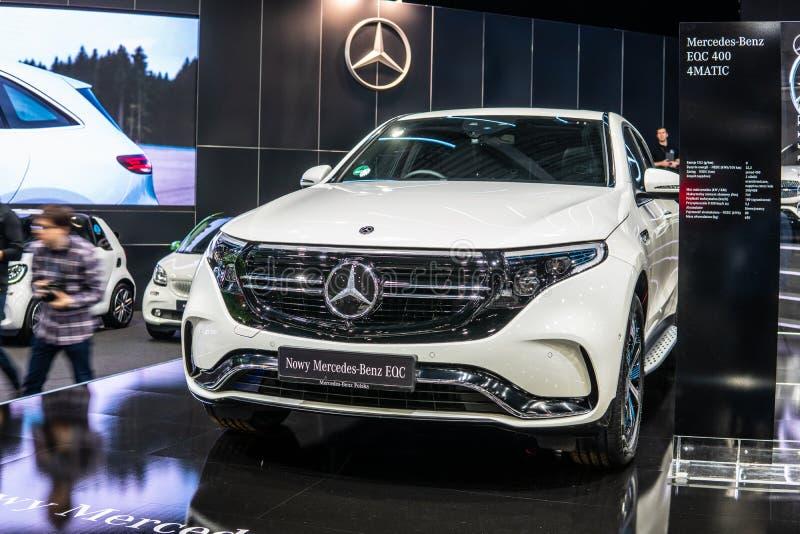 Mercedes-Benz EQC 400 4Matic 300kW SUV, het modeljaar van 2019, EQ-merk royalty-vrije stock foto's
