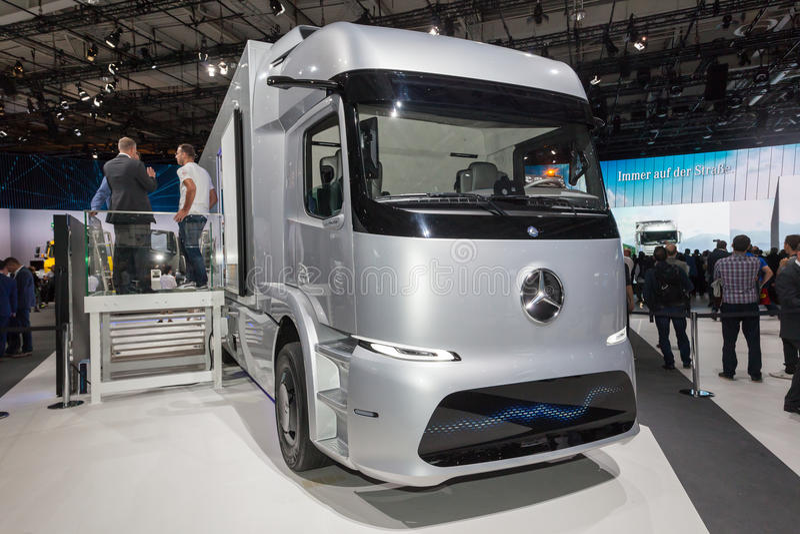 Mercedes Benz-eTRUCK lizenzfreies stockfoto