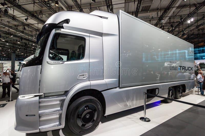 Mercedes Benz-eTRUCK lizenzfreie stockbilder