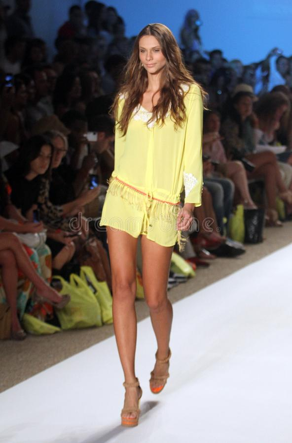 Mercedes-Benz Fashion Week Miami Beach imagenes de archivo