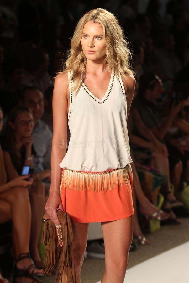 Mercedes-Benz Fashion Week Miami Beach imagem de stock
