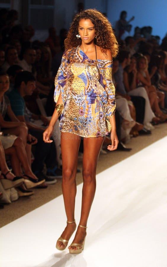 Mercedes-Benz Fashion Week Miami Beach imagem de stock royalty free
