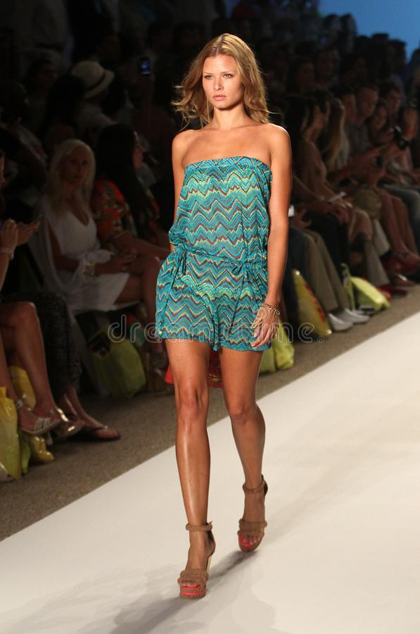 Mercedes-Benz Fashion Week Miami Beach fotografia de stock
