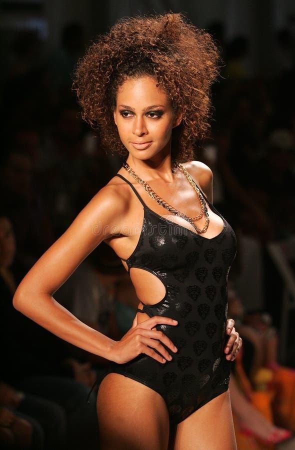 Mercedes-Benz Fashion Week Swim 2009 foto de stock royalty free