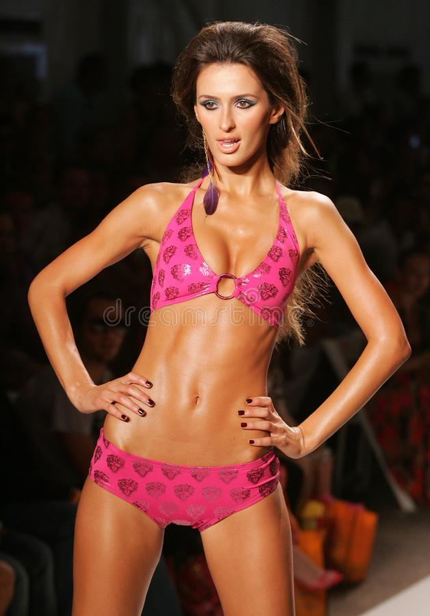 Mercedes-Benz Fashion Week Swim 2009 stockfotos