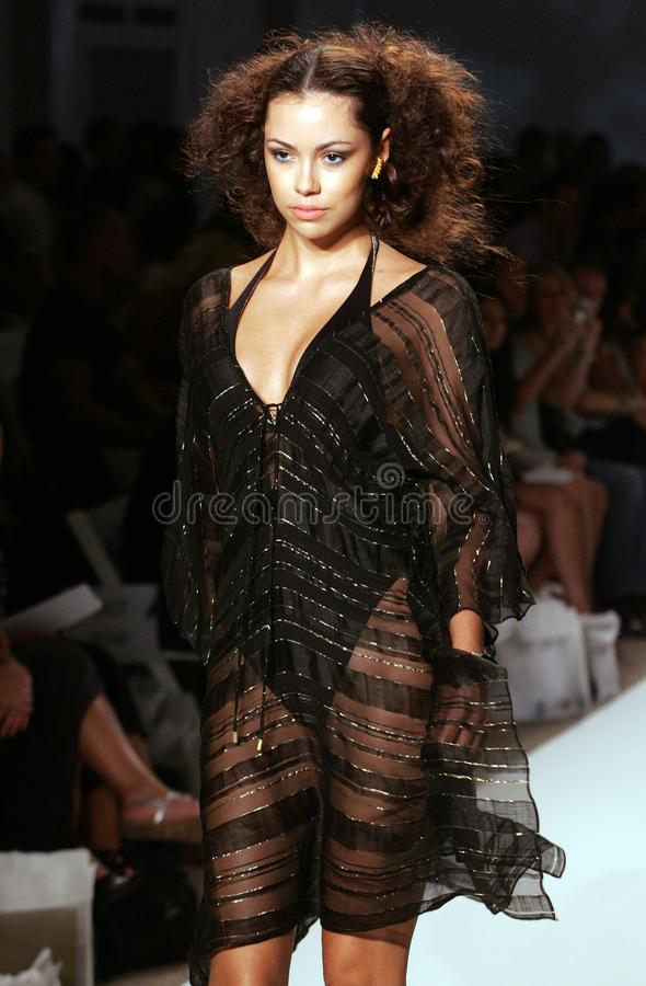 Mercedes-Benz Fashion Week Swim en Miami Beach foto de archivo