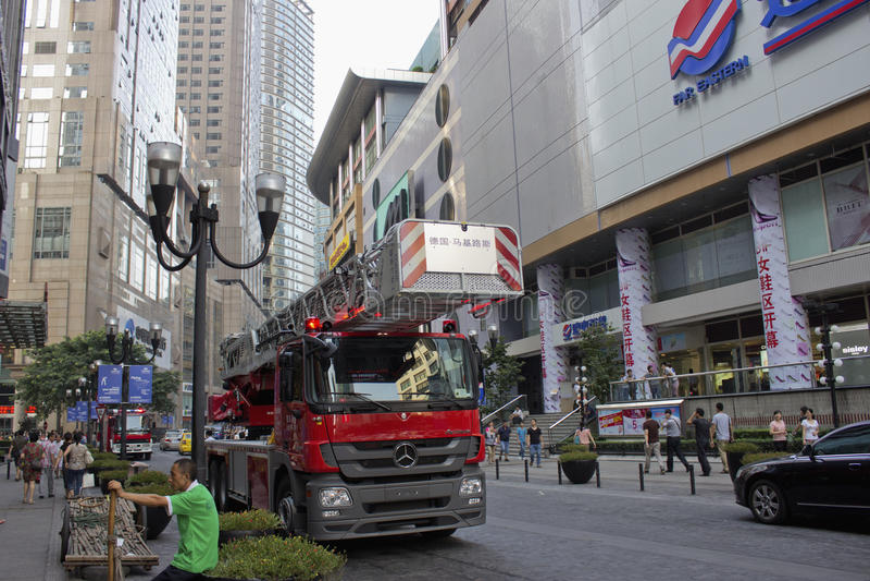 Mercedes Benz Fire Engine royalty-vrije stock afbeeldingen