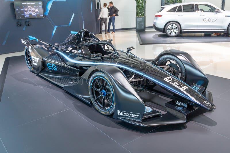 Mercedes-Benz formuły Wzorcowy samochód 2019 fotografia royalty free