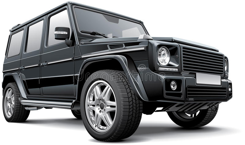 Mercedes-Benz G-grupp vid Brabus vektor illustrationer