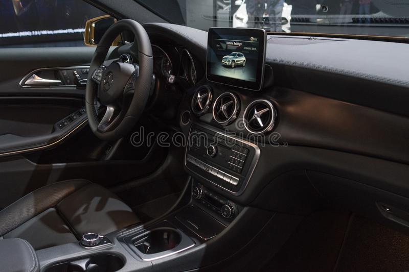 Mercedes-Benz GLA 250 Interior On Display During LA Auto Show ...