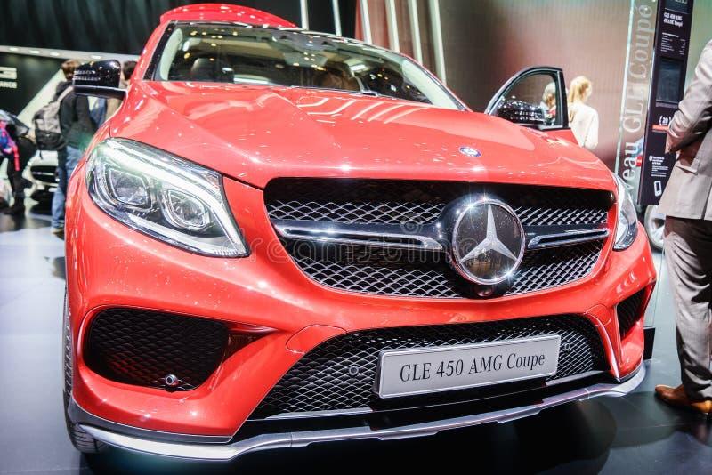 Mercedes-Benz GLE 450 AMG Coupe, Motorowy przedstawienie Geneve 2015 obraz stock