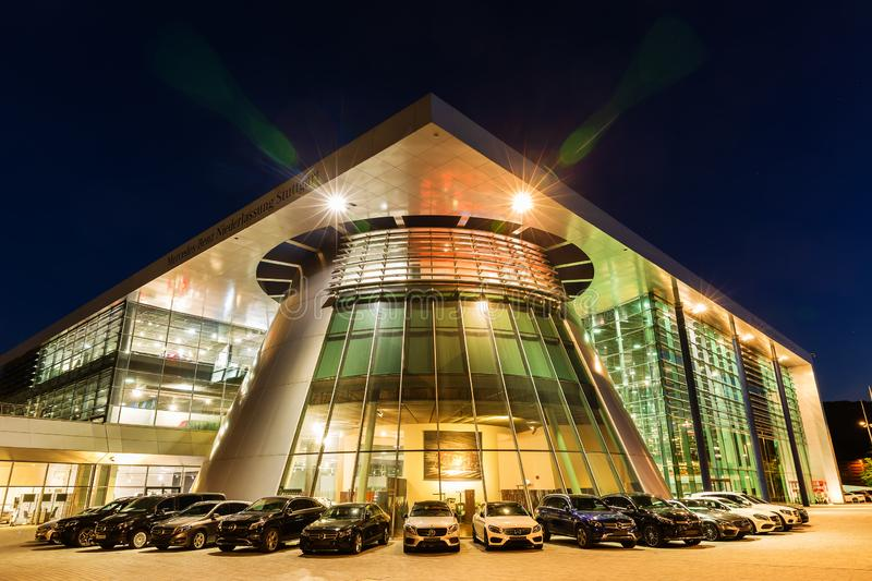 Mercedes Benz headquarters in Stuttgart, Germany royalty free stock images
