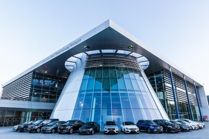 Mercedes Benz headquarters in Stuttgart, Germany royalty free stock photos