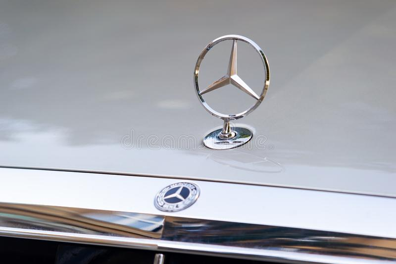 Mercedes-Benz hood ornament royalty free stock images