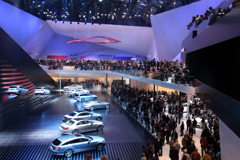 Mercedes Benz at the IAA 2013 stock photos
