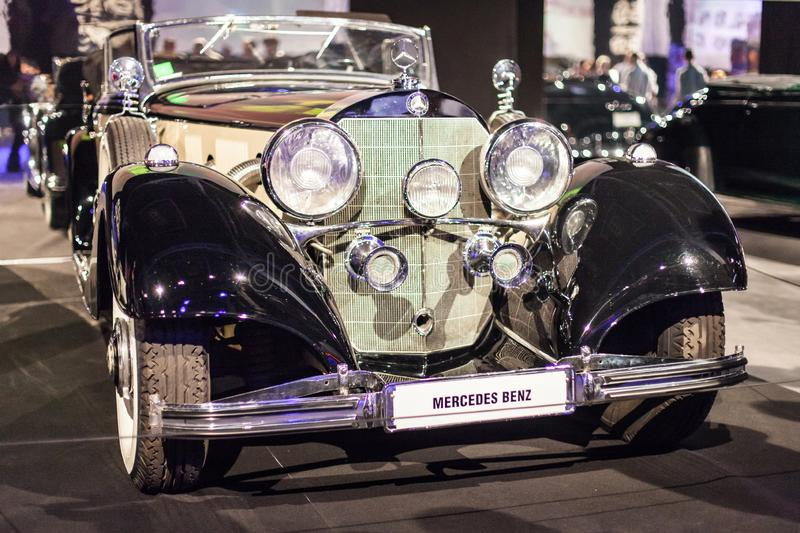Mercedes-Benz 500K at Automobile Barcelona 2019 royalty free stock photo