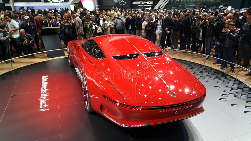 Mercedes Benz Limosine VIP. Its a brand new Mercedes Benz red royalty free stock photos