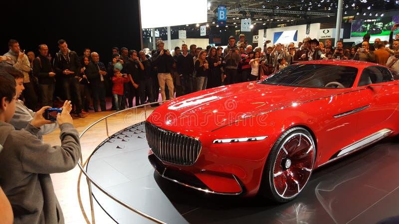 Mercedes Benz Limosine VIP. Its a brand new Mercedes Benz red stock images