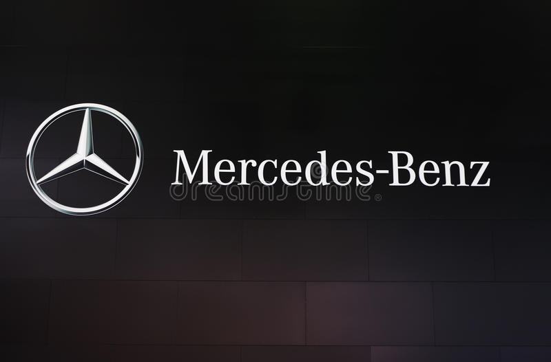 Mercedes benz logo stock photo
