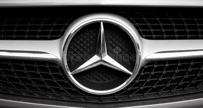 Mercedes benz logo and badge royalty free stock photos