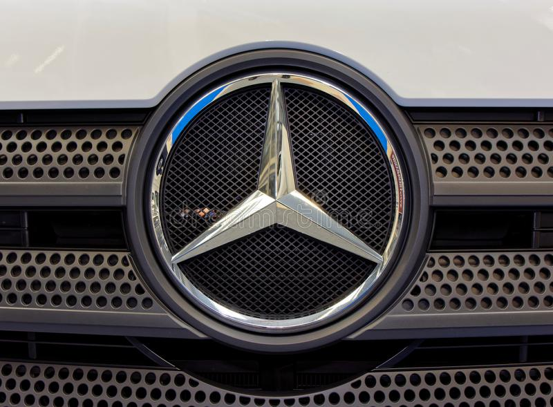 Mercedes Benz logo and modern badge royalty free stock photography