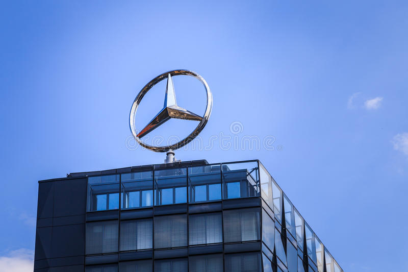 Mercedes-Benz. Logo on top of building royalty free stock image