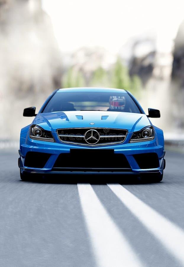 Mercedes Benz luxury saloon
