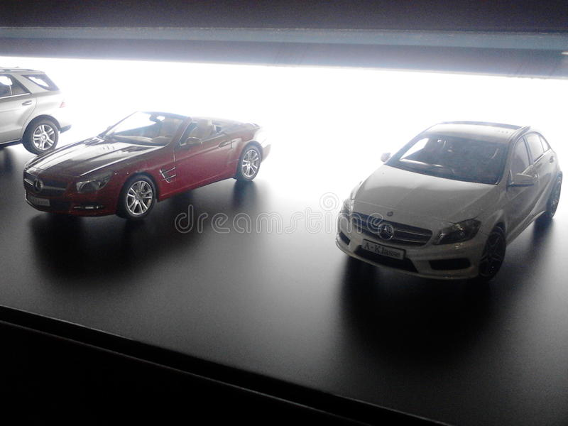 Mercedes-Benz models stock photo