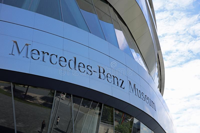 The Mercedes-Benz Museum in Stuttgart. Germany stock photography