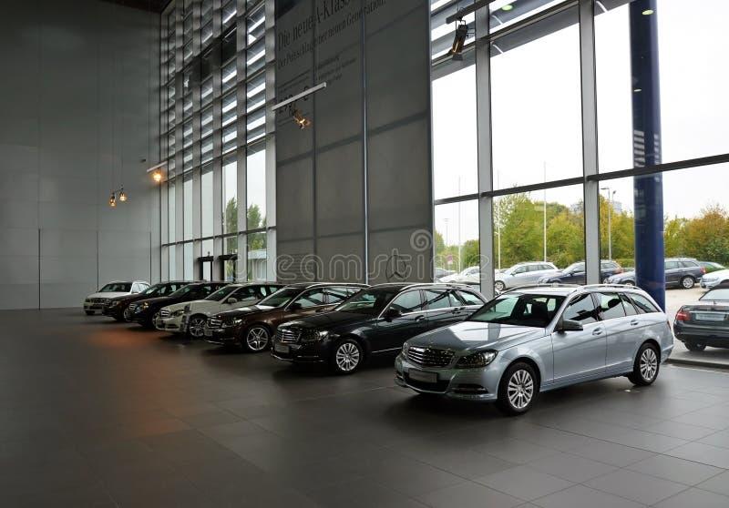 Mercedes-Benz museum in Stuttgart royalty free stock photo