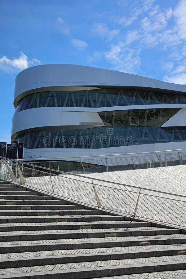 The Mercedes-Benz Museum in Stuttgart. Germany royalty free stock photo