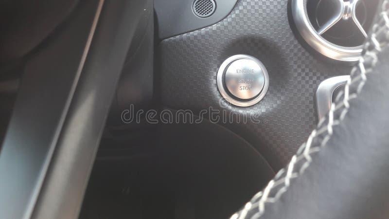 Mercedes Benz A200 2017 push to start button stock photos