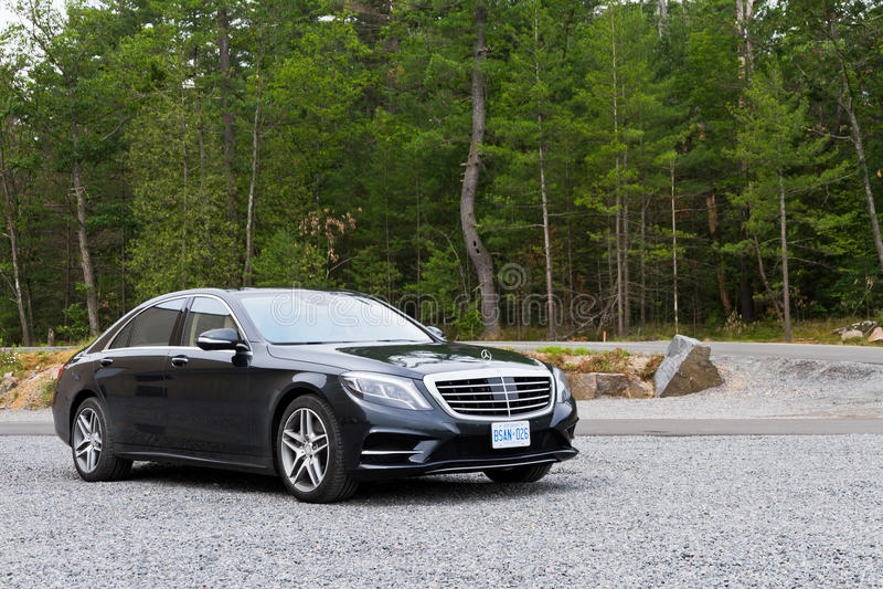 Mercedes-Benz S-Class 2013 The Top Model Sedan royalty free stock photo