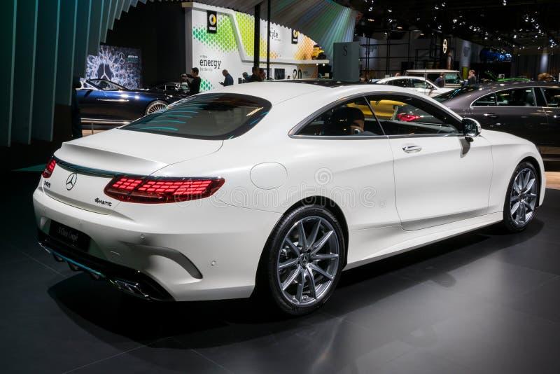 Mercedes Benz-S-klasse Luxuscoupéauto stockfotografie