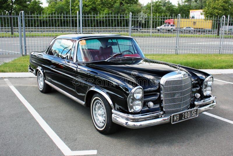 September 3, 2011, Kiev, Ukraine. Mercedes-Benz 280 SE Coupe 1969. Retro car royalty free stock photos