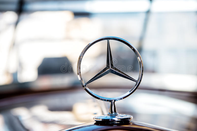 Mercedes Benz Sign or logo Close Up stock images