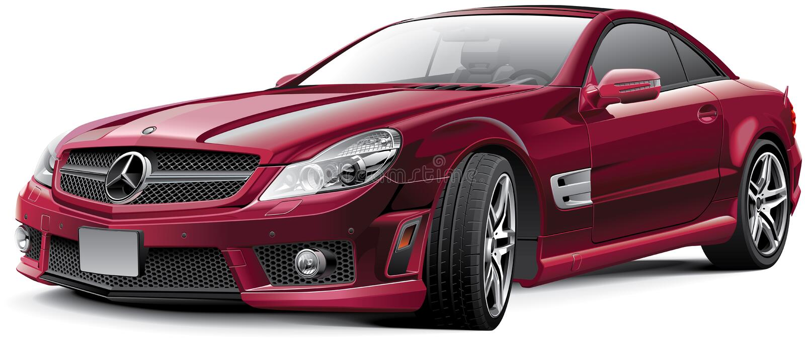 Mercedes-Benz SL63 AMG stock illustratie