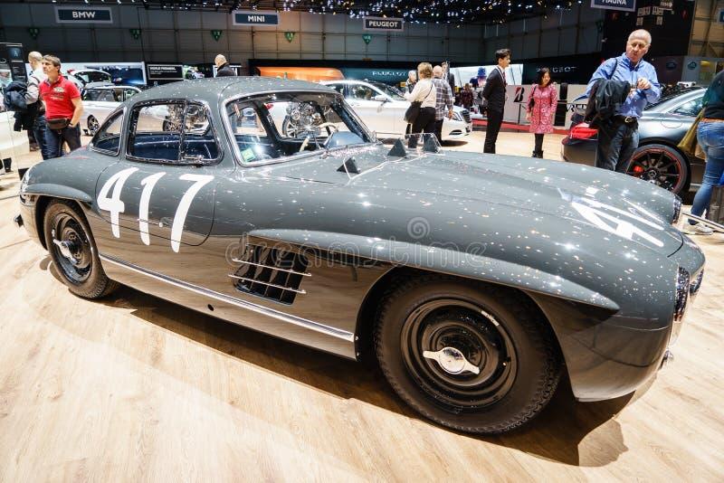 Mercedes-Benz 300 SL Fitch Mille Miglia 417, Autoausstellung Geneve 2015 stockbilder