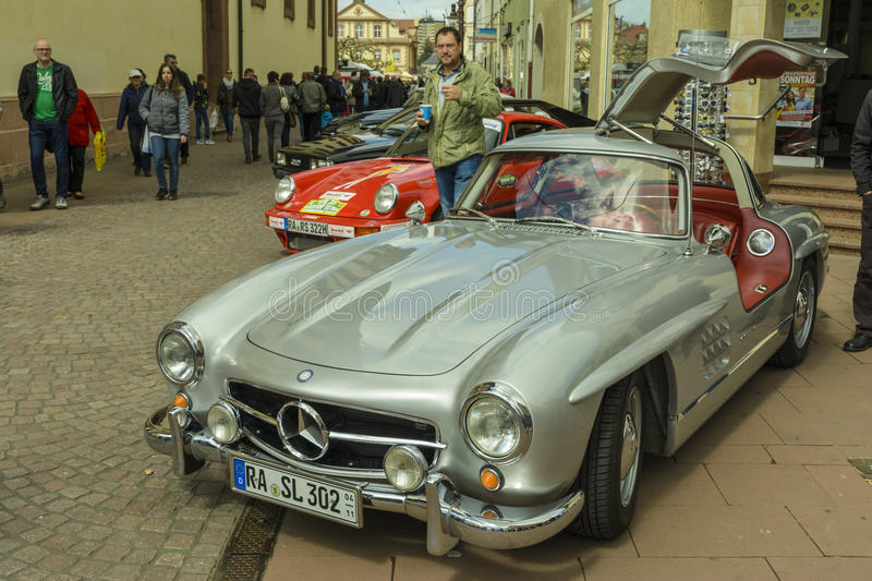 One Of 29 Rare Classic Mercedes Benz 300SL Gullwing Exposed In The Center Rastatt City Germany NThe 300 SL W198 Was First Iteration