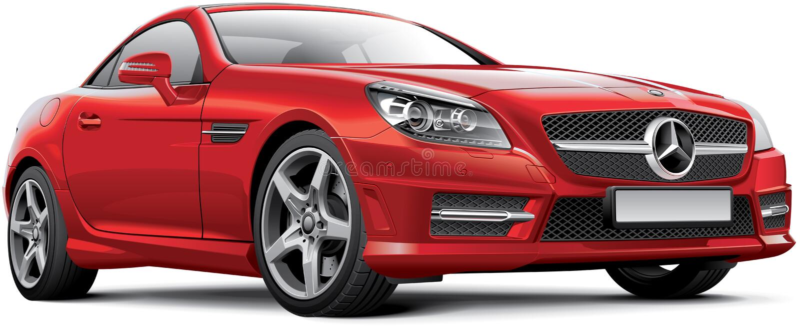 Mercedes-Benz SLK R172 vector illustratie