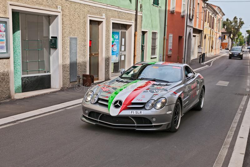 Mercedes-Benz SLR McLaren 722 coupé στο miglia 2017 Mille στοκ εικόνα