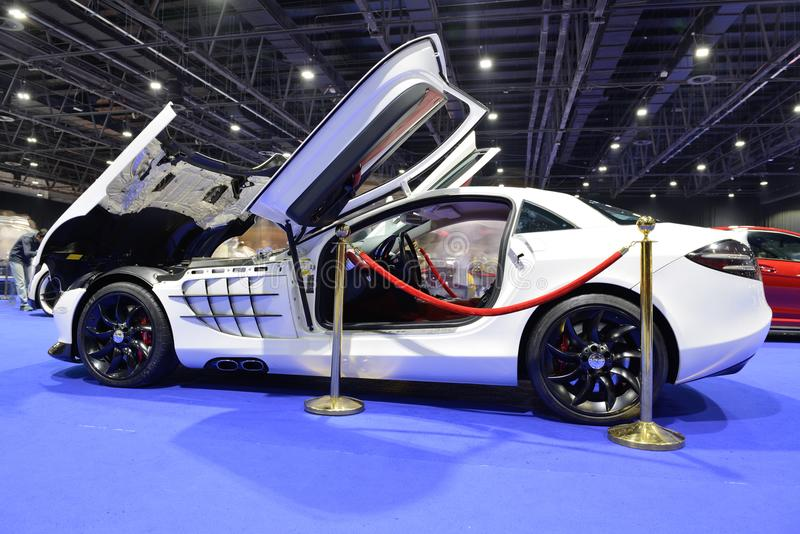 Download The Mercedes Benz SLR McLaren Sport Car Is On Dubai Motor Show  2017 Editorial