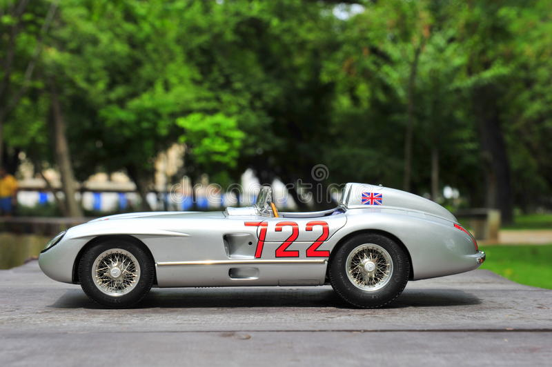 Mercedes-Benz 300 SLR Mille Miglia winner Sir Stirling Moss royalty free stock image